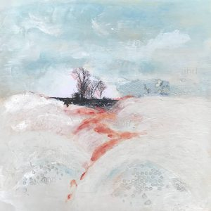 And, And, And Then, Ecaustic Mixed Media Painting by Jane Cousens 12x12
